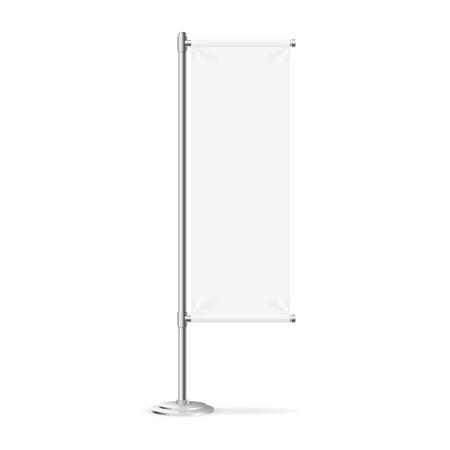 Blank Banner Flag Isolated on White Background. Vector illustration Illustration
