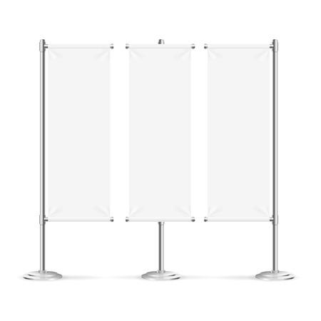 background banner: Blank Banner Flag Set Isolated on White Background. Vector illustration Illustration