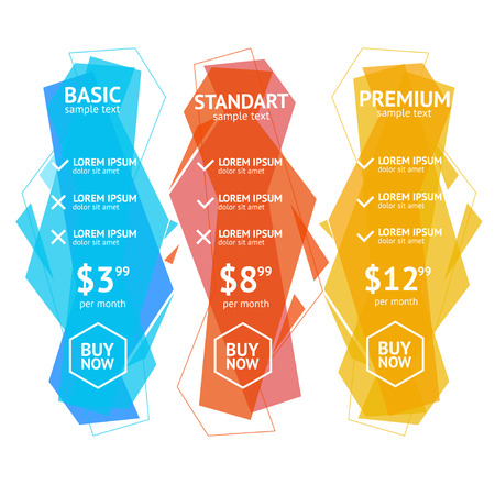 pricing: Modern Creative Style Pricing List. Vector illustration