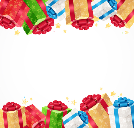ribbon background: Present Background With Space For Your Text. Vector illustration