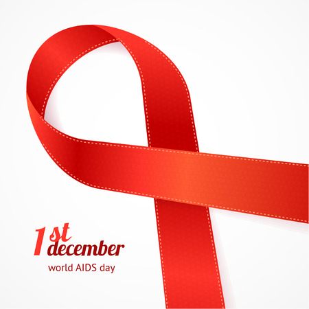 aids: AIDS Day Card With Inscription.