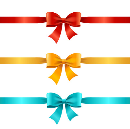 gift ribbon: Bow and Satin Ribbon Set for Gift.