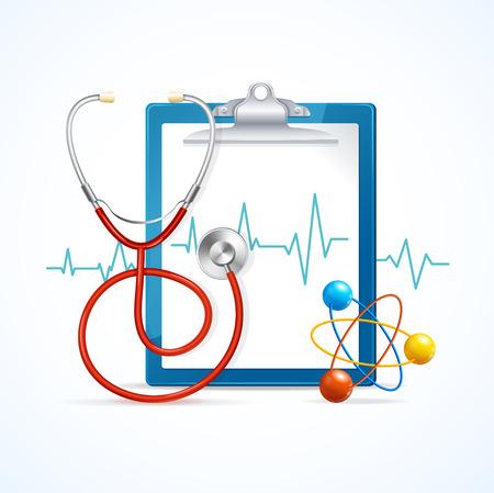 check icon: Health Medical Concept. Regular Health Care. Vector illustration