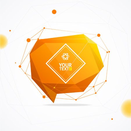 Abstract Geometry Background With Space For Text. Vector illustration