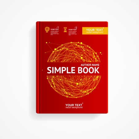 scientific research: Book Cover with Abstract Sphere. Scientific Research Concept. Vector illustration