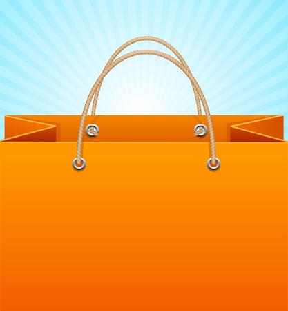 sign store: Paper Bag Background Sale Empty. Vector illustration Illustration