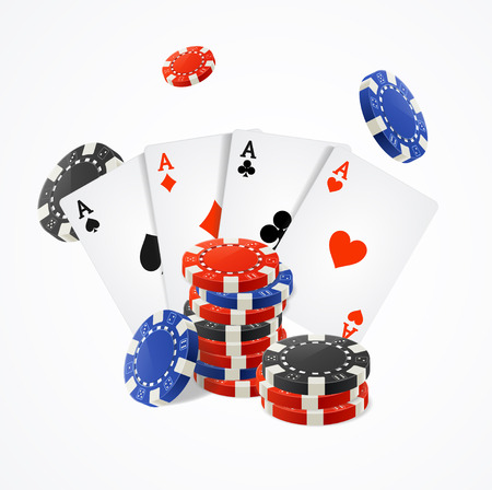 wagers: Casino Concept on a White Background. Vector illustration