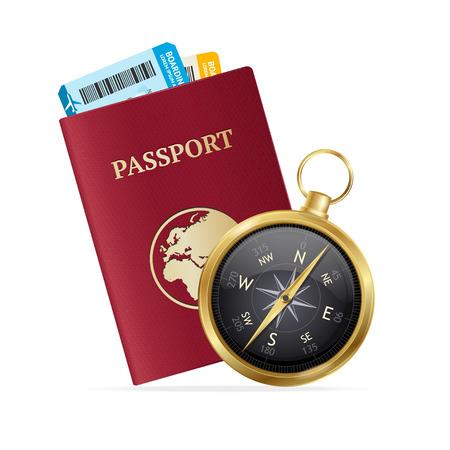 turismo: Los viajes y el concepto de turismo. Elección de vacaciones. ilustración vectorial
