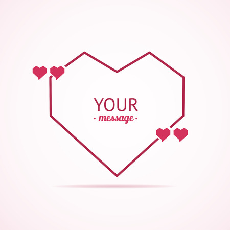 declaration: Valentine Card Quote Blank. The Concept of Declaration of Love. Vector illustration