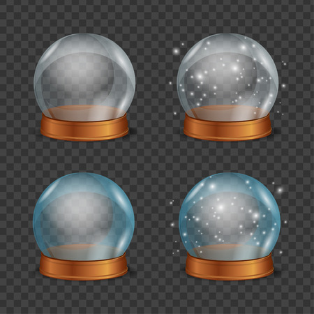 soothsayer: Empty Magic Crystal Ball Set. Vector illustration