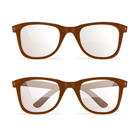 accessory: Glasses Brown Hipster. Fashion Accessory. Vector illustration Illustration