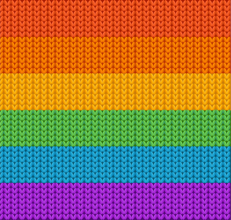 knitted fabrics: Knitted Background Rainbow. Wool Texture.  Vector illustration