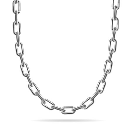 metal chain: Metal Chain. Fashion Design for Jewelry. Vector illustration Illustration