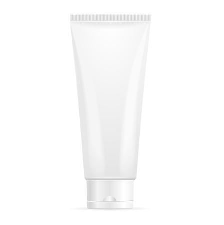 cream tube: Tube Mock-Up For Cream Template. Vector illustration Illustration