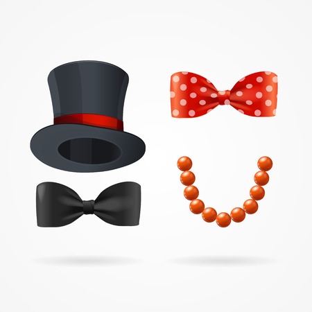 by the collar: Gentleman and Lady Man Woman Sign. Vector illustration