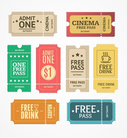Coupon und Tickets ein. Freie Labels. Vektor-Illustration Vektorgrafik