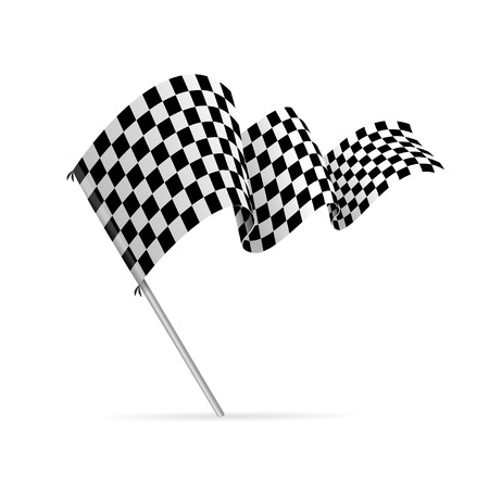 Single Chequered Racing Flag Auto.