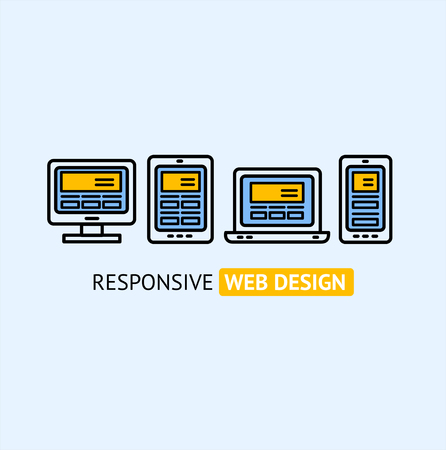 responsive design: Modern Responsive Web Design Concept. Illustration