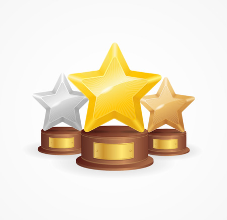 star award: Golden, Silver and Bronze Star Award Set.