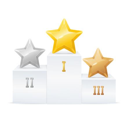 Pedestal Star Award Set with Number.