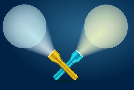 torch light: Lignt Torch Banner. Intersection Of Light Rays. Vector illustration Illustration