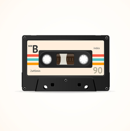 Cassette Tape Old. Side B Vector illustration