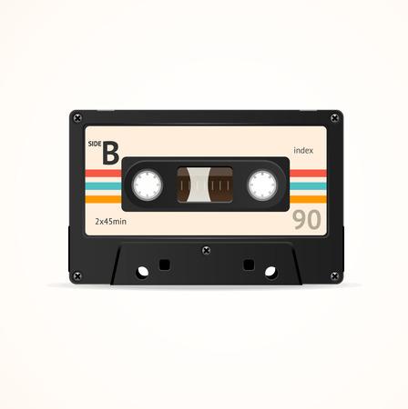 cintas: Cinta de cassette vieja. Lado B ilustración vectorial