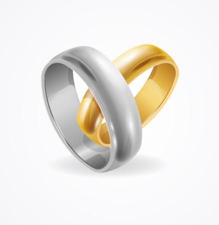 Silver et Gold Alliance sur fond blanc. Vector illustration