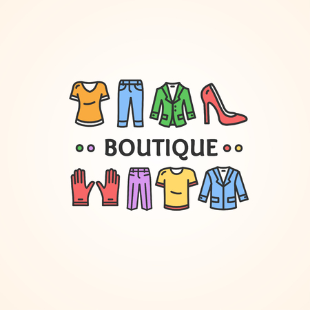 clothing shop: Clothing Shop or Boutique Concept. Vector illustration