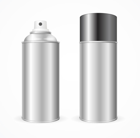 freshener: Aluminium Spray Can Template Blank. Mock Up  For Your Design. Vector illustration
