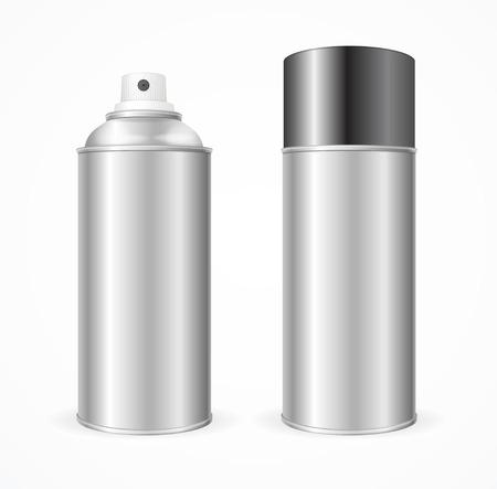 aluminium  design: Aluminium Spray Can Template Blank. Mock Up  For Your Design. Vector illustration