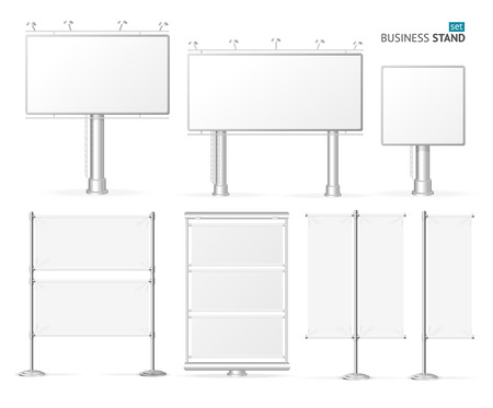 advertisement: Blank Business Stand Set  for Advertisement. Vector illustration