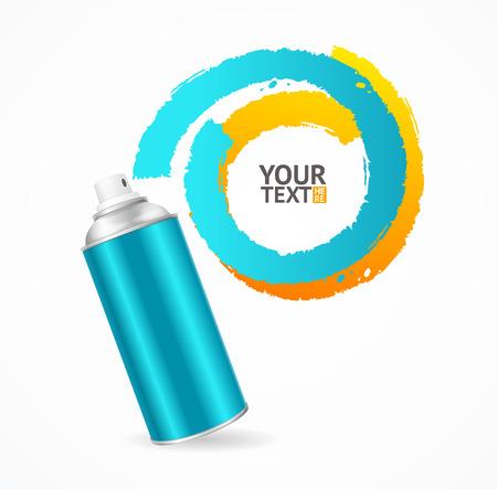 spray can: Spray Can Write Speech Bubble. Vector illustration