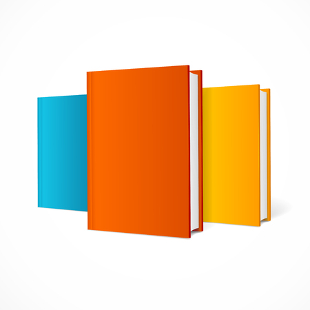 color pages: Color Book Set. Blank Vertical Cover with Pages. Ready for Your Design. Vector illustration