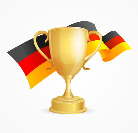 competitions: Germany Winning Golden Cup Concept for Competitions, Contests, Tournaments. Vector illustration