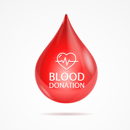 beating: Blood Donation Concept with Beating Heart. Poster or Flyer. Vector illustration Illustration