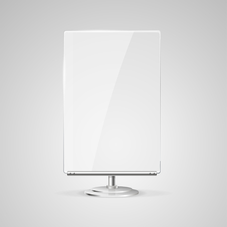 glass panel: Glass Screen Banner. Stand for Promotion and Advertising. illustration