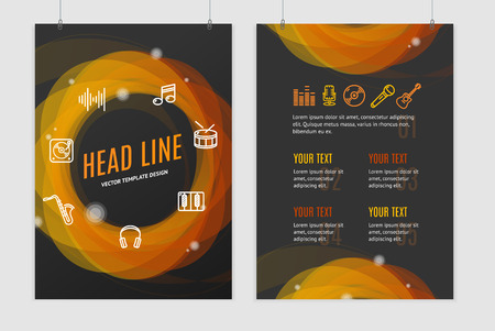 placard: Abstract Geometric Round Placard Brochure Flyer Design. Vector illustration