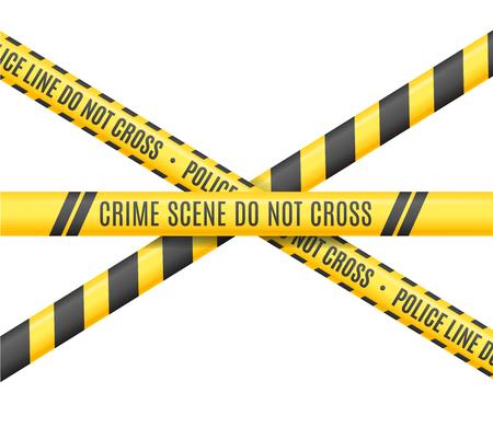 Police Line. Scene Crime Do Not Cross. Vector illustration