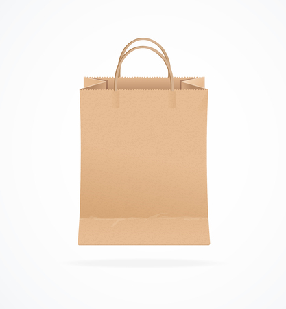 Paper Bag Eco Sale Isolated on White Background. Vector illustration