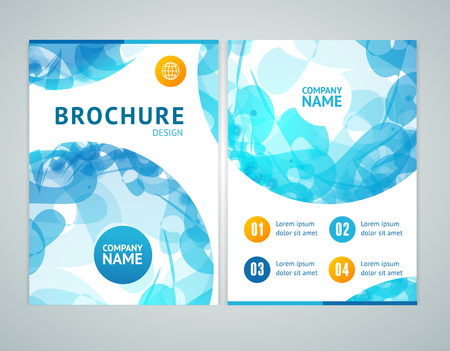 periodical: Brochure Design in A4 Size with Abstract Blue Sphere. Vector illustration Illustration