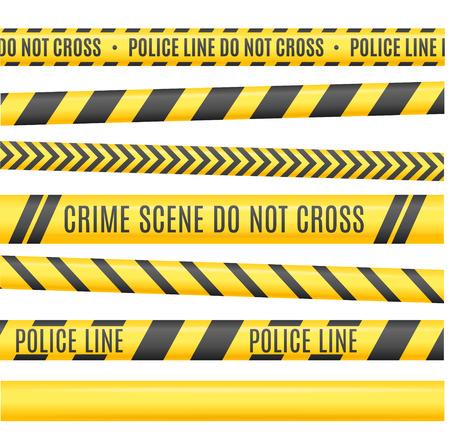 police line: Police Line Set. Different Variants. Vector illustration Illustration
