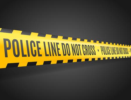 La ligne de police avec le texte Non Croix. Vector illustration