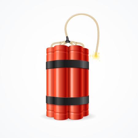 Detonate Dynamite Bomb. Symbol of Terror and Danger. Vector illustration Vektoros illusztráció
