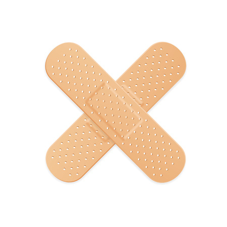 Aid Band Plaster Strip Medical Patch. Vector illustration