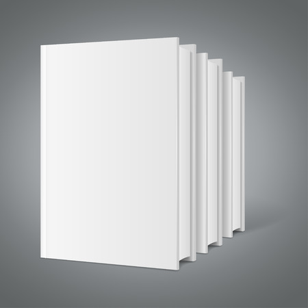 magazine stack: Template White Blank Book Stack. Ready for Your Design. Vector illustration Illustration
