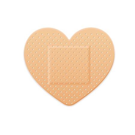Aid Band Gips Strip Medisch Patch Heart. Vector illustratie