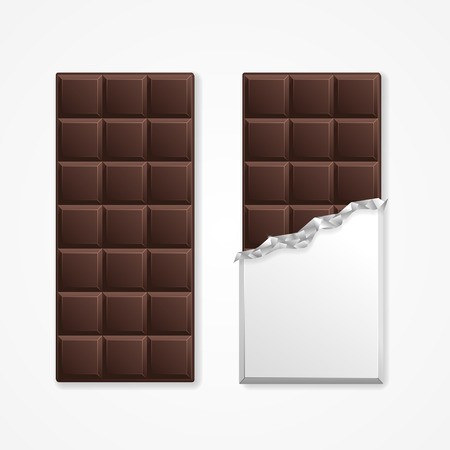 Black Chocolate Package Bar Blank. Vector illustration