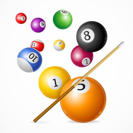 billiard ball: Billiard Ball Concept. Vector Illustration