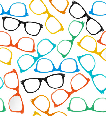 Glasses Hipster Style Background Pattern. Vector 向量圖像